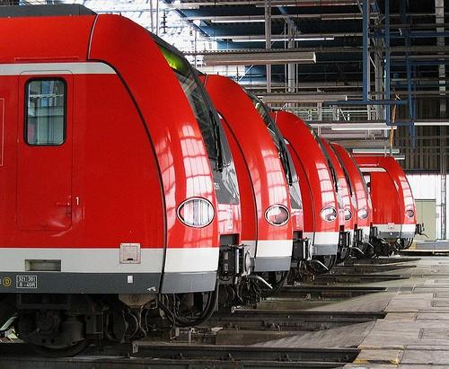 S-Bahn-Triebzüge der Baureihe ET423 im Betriebswerk München-Steinhausen