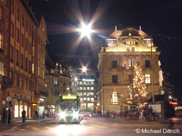 Weihnachtsstimmung am Schiffländle am 6. Dezember 2006 in Basel