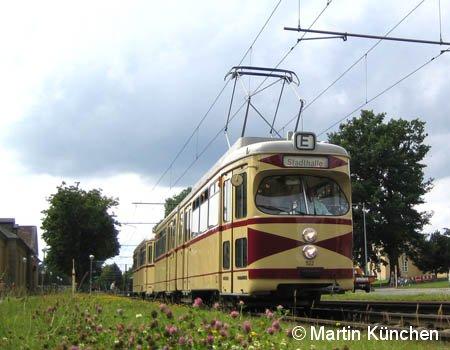 Hannover: Sonderfahrt TW 522 und BW 1513 am 24.06.2007 beschildert mit