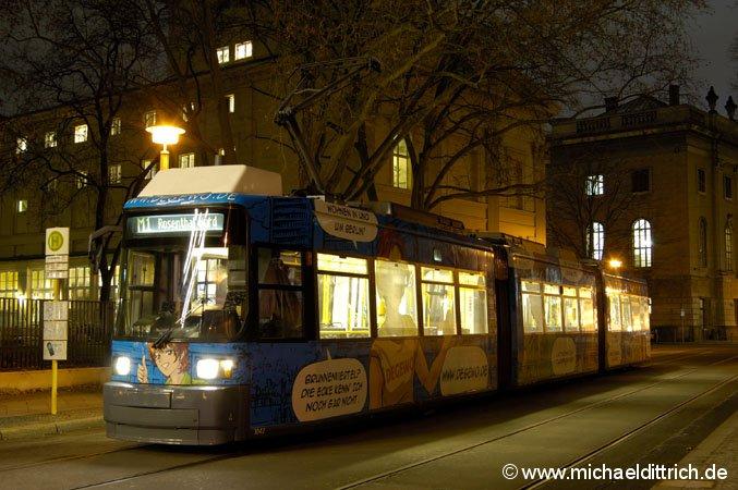 1042 an der Endhaltestelle Am Kupfergraben Aufgenommen am 17.01.2008
