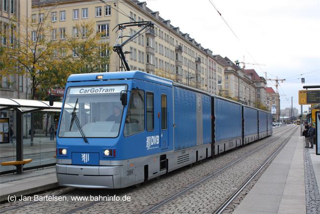 Güterverkehr mit der Straßenbahn: Die Dresdner