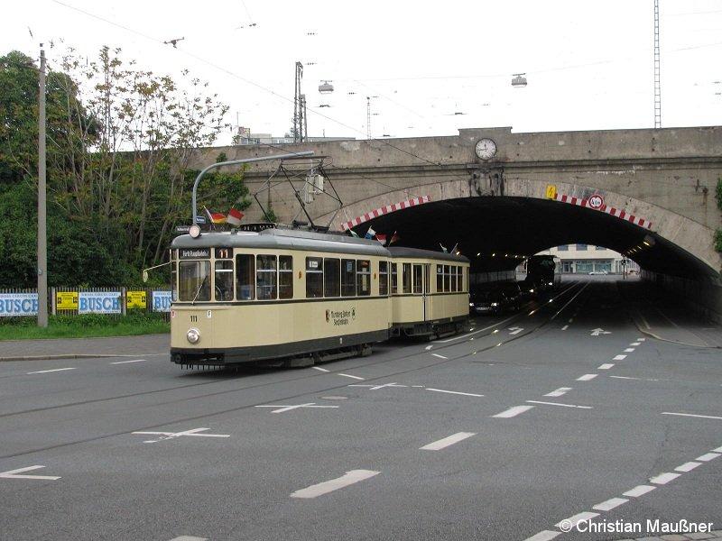 Am Sonntag dem 16.05.2010 konnte Wagennummer 111 der Freunde Nürnberg-Fürther Straßenbahn e.V. in der Scheuerlstraße aufgenommen werden
