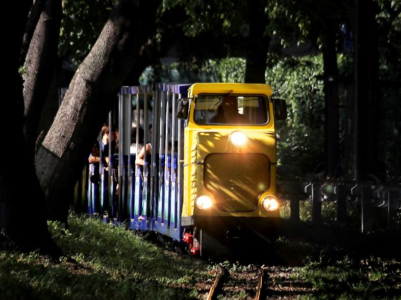 Die Wiener Liliputbahn im Praterpark - aufgenommen am 16.08.2013