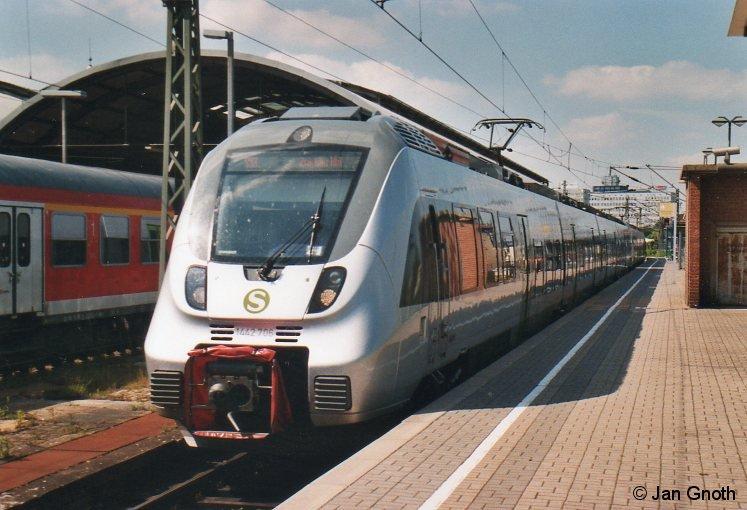 442 206 ist am 05.05.2014 von Zwickau kommend in Halle (Saale) Hauptbahnhof eingetroffen und wird nach ca. 30-minütigen Aufenthalt zur nächsten Runde nach Zwickau starten.